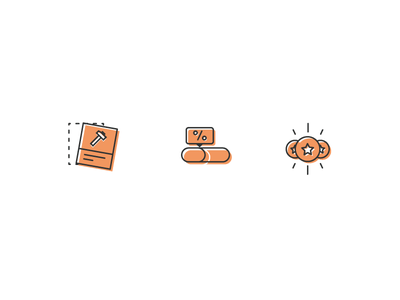 A Little Orange to Start the Day illustration design vector branding icons icon ui
