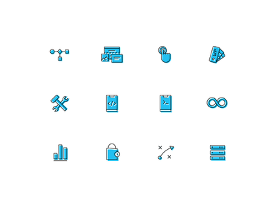 Digital Icons vector design illustration branding ui icon icons