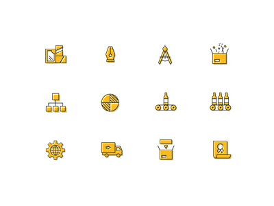 Packaging Icons design illustration icons icon vector branding ui