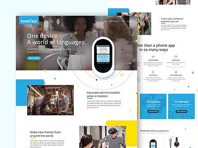 Pocketalk Concept webdesign desktop design concept design ui