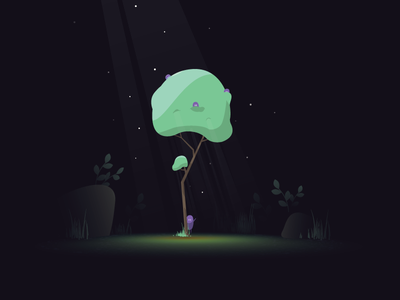 The Lonely Tree minnesota vector illustration