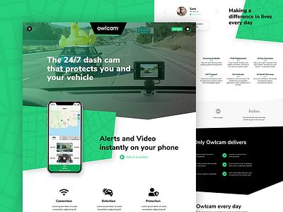 Rejected Concept - Owlcam layout desktop design website ui web design