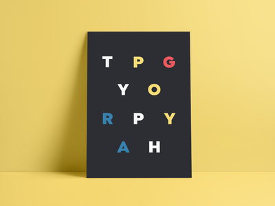 Thought it was neat typeface typography typogaphy type poster colors
