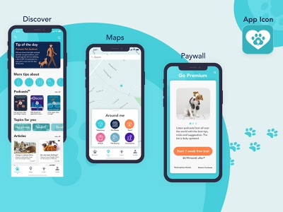 Designflows 2020 | Pets Lover App in 48h photoshop sketch designflows2020 design ui ux app concept illustration pet dog cat designflows competition app 48h