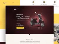 Vespa Primavera Landing page