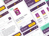 E-commerce mobile interface