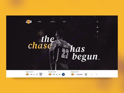 Lakers website