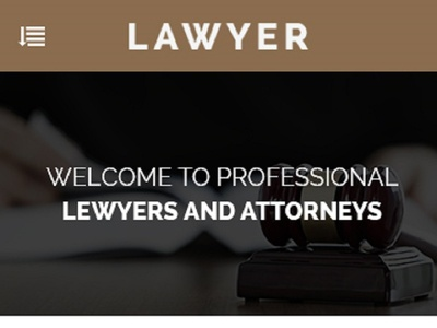 Lawyer Mobile App PSD Template