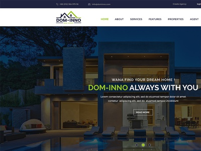Dom-Inno Real Estate PSD Template by $1 PSD Template - Dribbble
