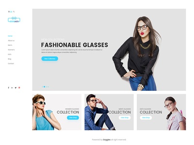 Goggles – eCommerce PSD Template
