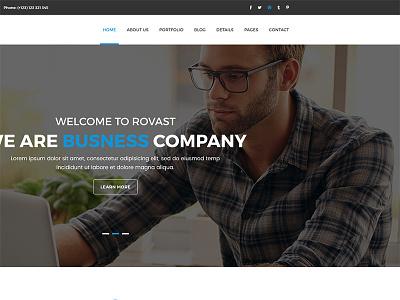 Rovast – Corporate PSD Template website templates web design simple design psd template corporate site clean templates clean psd clean  creative business web