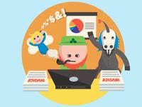 Startup Jackpot Illustration