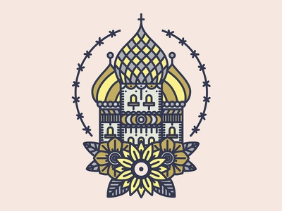 Russian Cathedral russian church vector illustration