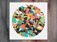 Chopped Circle Print