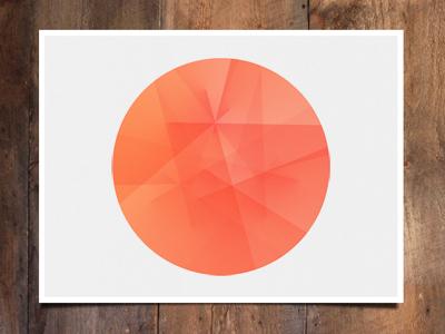 Peach circle mock  dribbble