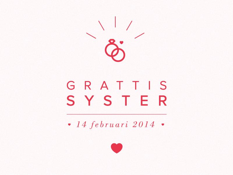 grattis d Grattis Syster by David Hultin   Dribbble grattis d