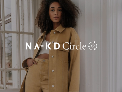 NA-KD Circle savetheworld trend model heart logoreveal nakdfashion recycle logo fashion sustainable circle na-kd