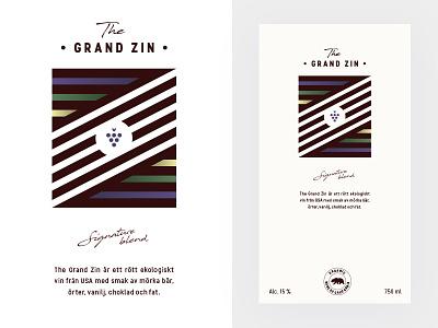 Wine Label - The Grand Zin dhultin red california organic grape field z zin grand label wine vote