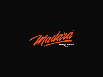 Madara / Design Studio LOGO typogaphy flat vector blue typography red design drawing gold illustration logo orange logo studio design art