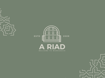 A Riad logo - for marrakech hotel