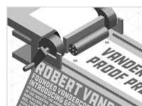 Vandercook Proof Press Illustration