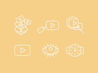 Video Line Icons