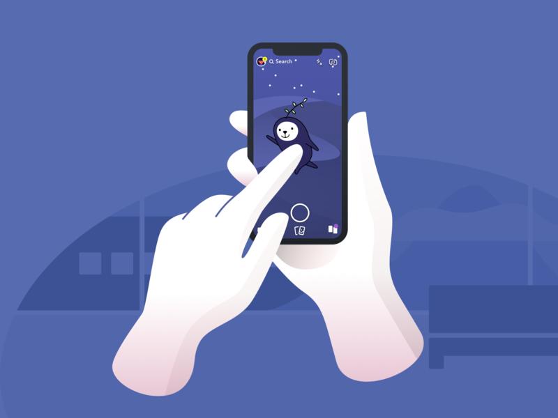 Snapchat Purple World seedling character purple ui flat design snapchat filter snapshot sticker snapchat