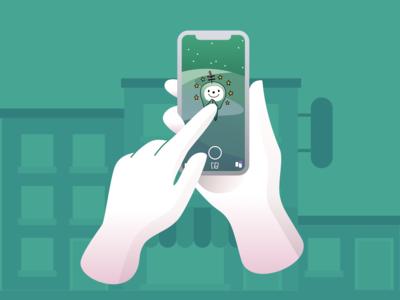 Snapchat Green World