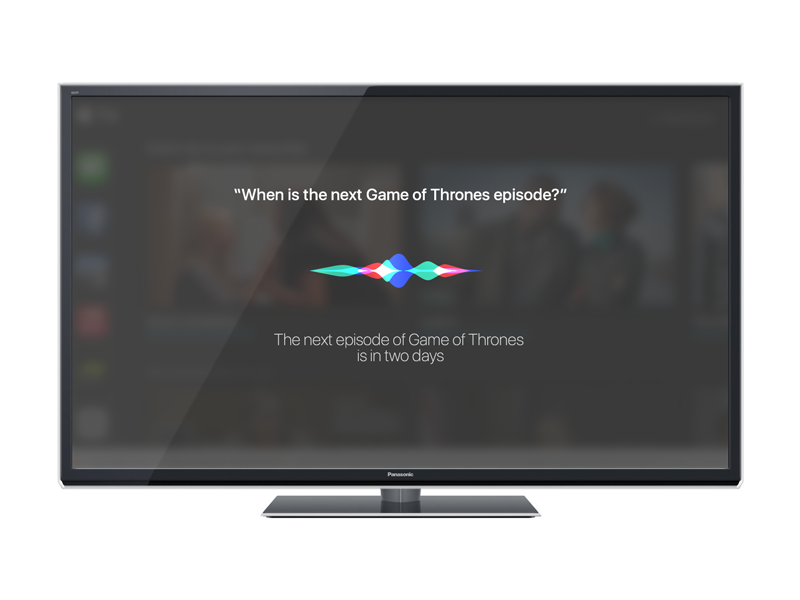 Siri for  TV product designer designer product london tab design challenge tv apple  siri