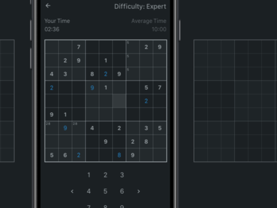 Sudoku iOS App product designer designer product london game numbers iphone ios sudoku