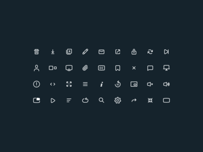 More Player Icons product designer designer product london icons web iconography illustration graphics sketch ui icon set