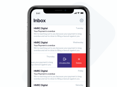 Unsubscribe Option - Mail london designer product mail iphone x ios