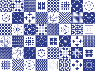 Portuguese Tiles minimal ceramic illustration vector graphics portugal tiles