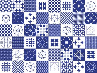 Portuguese Tiles minimal ceramic illustration vector graphics portugal tiles