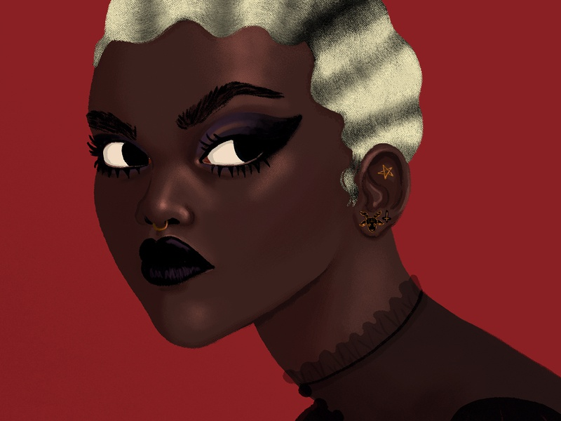 Prudence- Chilling Adventures of Sabrina art portrait painting netflix fan art tati gabrielle witch baphomet satanic digital painting portrait prudence chilling adventures of sabrina