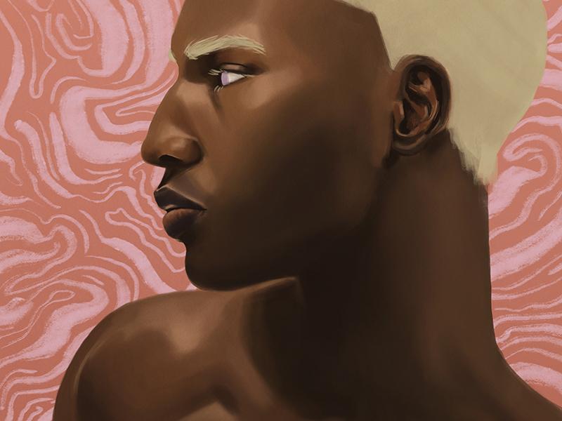 090118 emptiness madness digital illustration male model portrait painting illustration digital painting