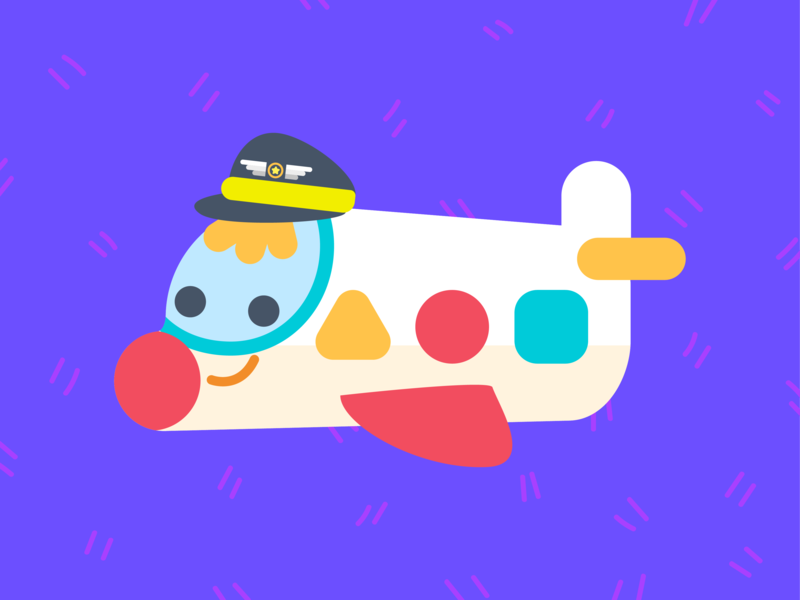 Capi travel friendly happy digital painting kids design musical show airplane captian character concept kids show vector illustration doodle character design children illustration kawaii illustration