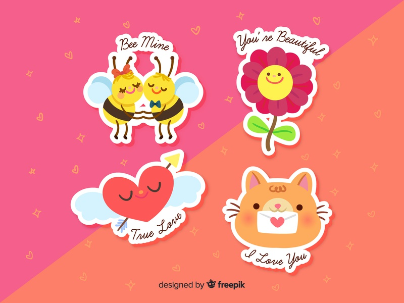 Lovely Stickers by grecia colunga on Dribbble