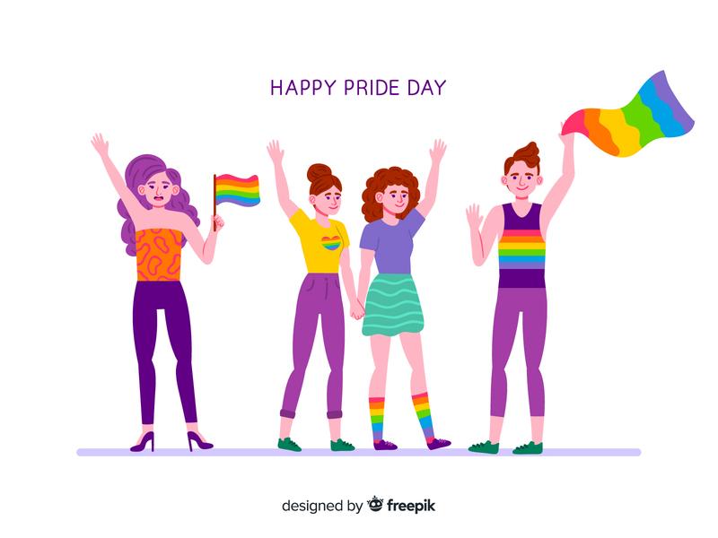 Pride day lgbtq freebie free download pride day illustration vector design vector illustration character design