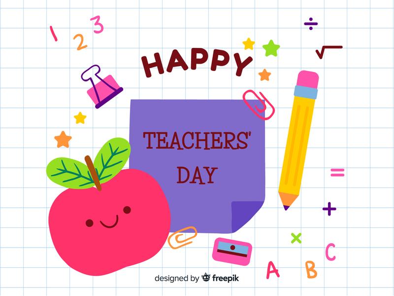 Teachers' Day free vectors free download freebee teachers day doodle cute vector happy vector illustration character design children illustration kawaii illustration