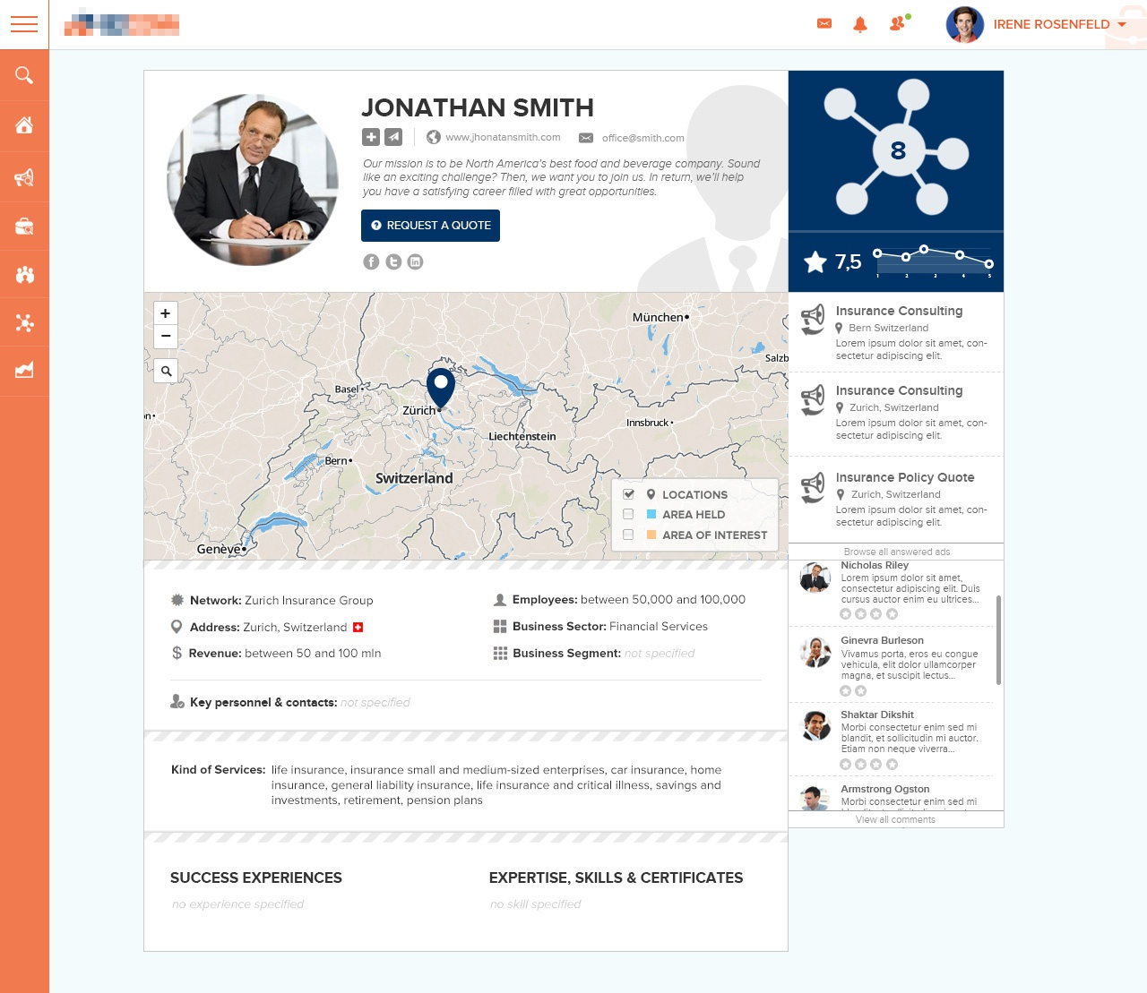 Dribbble consultant profile ui 3 by anna ida d for Conformed construction documents