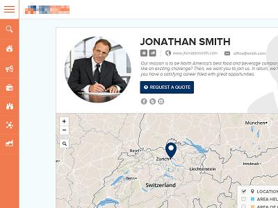 Business Profile UI ui web ui user interface profile social network user profile business