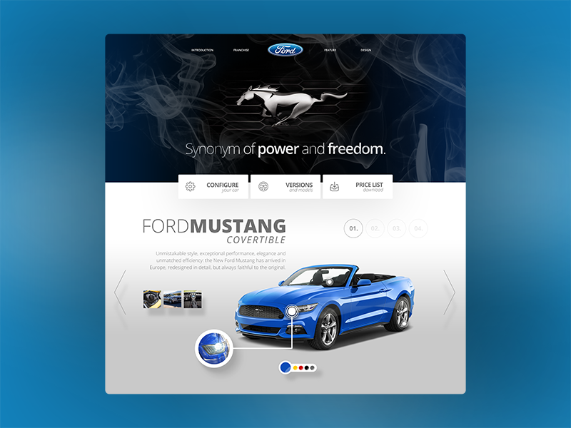 Dribbble complete mustang