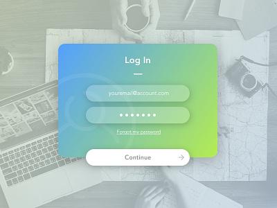 Daily UI #1 - Login login page landing page log in password email border radius green light blue blue ui daily ui login