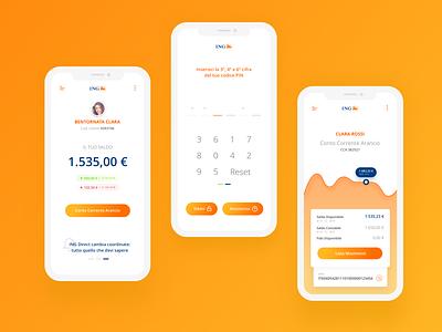 Orange Fluo Rebound - ING Bank App - Redesign Concept redesign concept design concept bank account bank app orange juice cta bank fluo orange