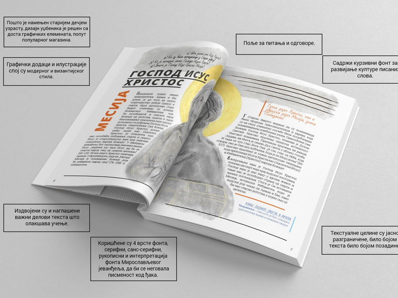School book on Religion religion typography design illustration print design
