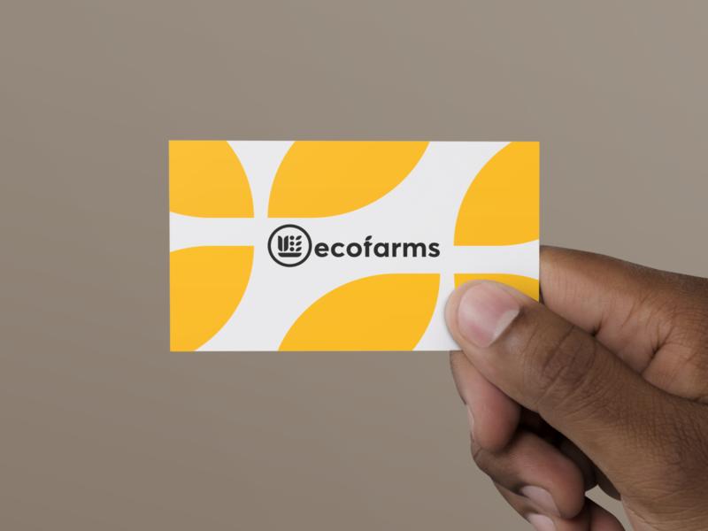 Ecofarms illustrator illustration typography design minimal logo identity branding