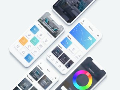 HomeSet - Home automation app concept