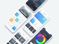 HomeSet - Home automation app concept