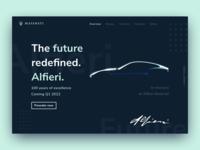 Maserati Alfieri - Concept car preorder website